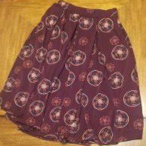 LulaRoe Flowy Madison Midi Skirt